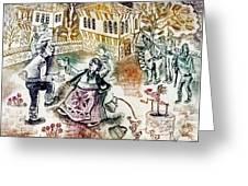 Folk-dancing Greeting Card