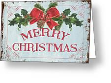 Folk Merry Christmas Greeting Card