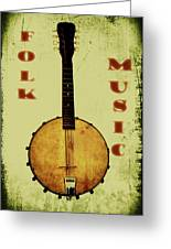 Folk Music Greeting Card