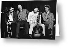 Folk Singers 1964 Greeting Card