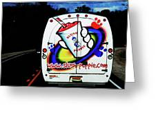 Follow That Van Greeting Card by Cyryn Fyrcyd