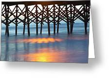 Folly Beach Abstract Greeting Card