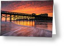 Folly Beach Pier And Waterfront Development Charleston South Carolina Greeting Card