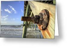 Folly Beach Pier Decay Greeting Card