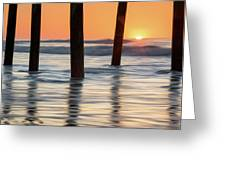 Folly Beach Sunrise Charleston South Carolina Greeting Card