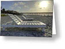 Folly Beach Sunrise Lounger Greeting Card