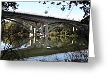 Folsom Bridge-watercolor Greeting Card