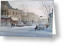 Fond du Lac - Downtown Greeting Card by Ryan Radke