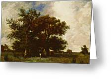 Fontainebleau Oaks 1840 Greeting Card