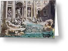Fontana Di Trevi Rome Greeting Card
