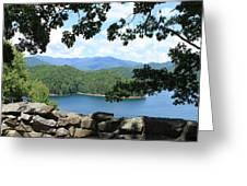 Fontana Lake At The Dam Greeting Card