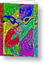 Fontart Series  Cosmic Attraction Greeting Card