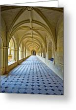 Fontevraud Abbey Cloister, Loire, France Greeting Card