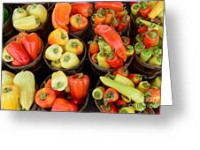 Food - Peppers Greeting Card by Paul Ward
