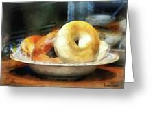 Food - Bagels For Sale Greeting Card