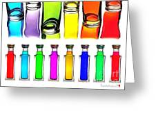 Food Coloring Ensemble-rainbow Theme Greeting Card