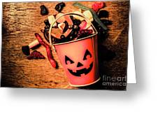 Food For The Little Halloween Spooks Greeting Card