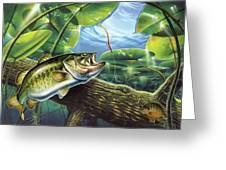 Fooled Again Bass II Greeting Card by JQ Licensing