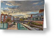 Foot Bridge At Gas Street Basin  Birmingham Greeting Card