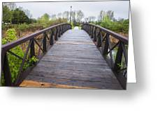 Foot Bridge In Park Greeting Card