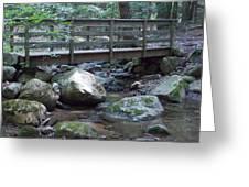 Foot Bridge Over Notch Brook Greeting Card