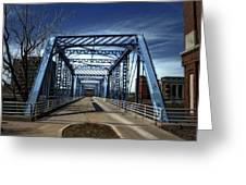 Foot Bridge Over The Grand River Greeting Card