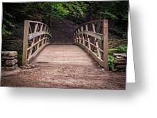 Foot Bridge Waiting Greeting Card