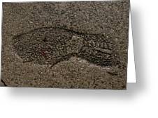 Foot Print Greeting Card