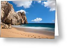 Foot Prints In Cabo Greeting Card
