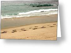 Foot Prints In The Sand.jpg Greeting Card