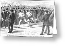 Foot Race, 1868 Greeting Card