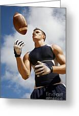 Football Athlete I Greeting Card by Kicka Witte - Printscapes