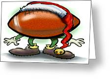 Football Christmas Greeting Card by Kevin Middleton