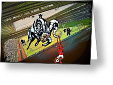 Football Derby Rams Against Nottingham Forest Red Dogs Greeting Card