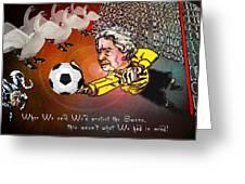 Football Derby Rams Against Swansea Swans Greeting Card