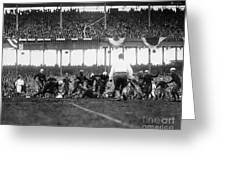 Football Game, 1925 Greeting Card