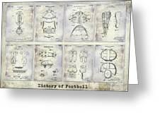 Football Patent History Greeting Card