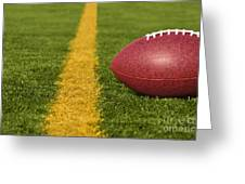 Football Short Of The Goal Line Close Greeting Card
