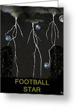 Football Star Greeting Card by Eric Kempson