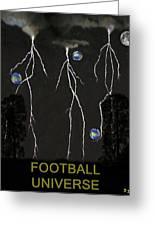 Football Universe Greeting Card