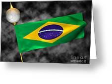 Football World Cup Cheer Series - Brazil Greeting Card