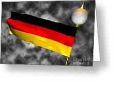 Football World Cup Cheer Series - Germany Greeting Card