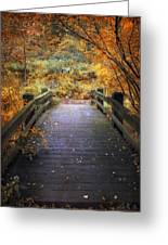 Footbridge Canopy Greeting Card