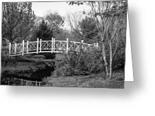 Footbridge In Black And White Greeting Card