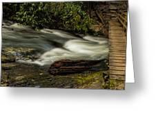Footbridge Over Raging Moccasin Creek Greeting Card