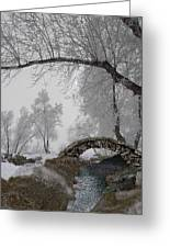 Footbridge Over The Creek Greeting Card