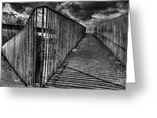 Footbridge Railings Greeting Card