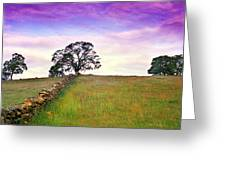 Foothill Sunrise Greeting Card
