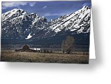 Foothills Of The Tetons Greeting Card