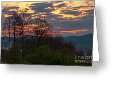 Foothills Parkway Dawn Greeting Card